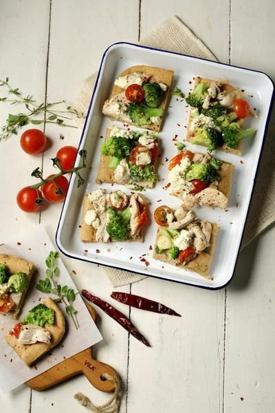 #reseppesona Broccoli & Chicken Pizza