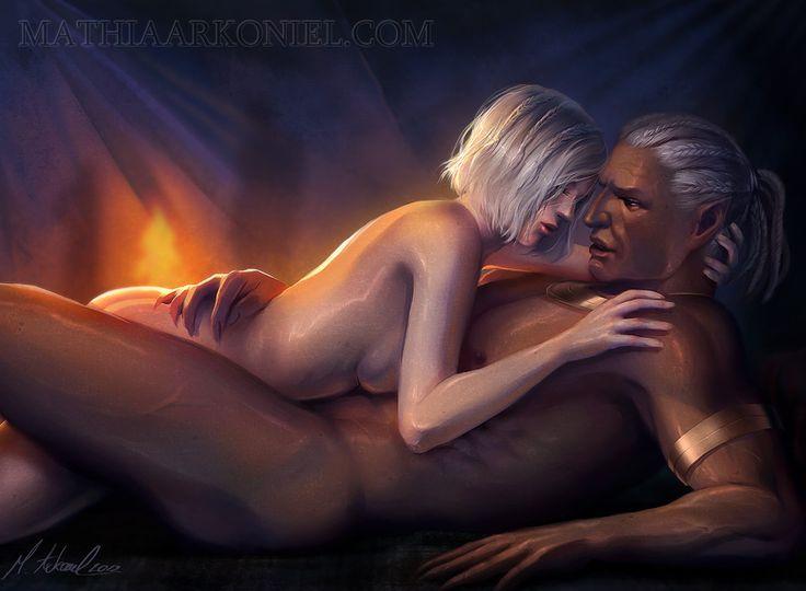 dragon age: warden and sten romance by MathiaArkoniel.deviantart.com on @deviantART. I so would have.