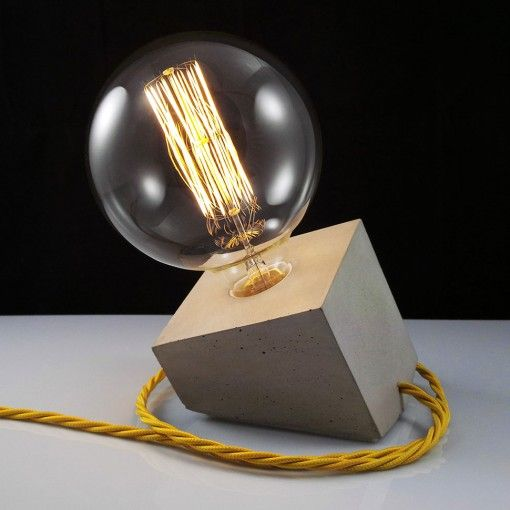 Interior Trends for 2016 - Concrete Lamp, £58, en.dawanda.comMore Pins Like This At FOSTERGINGER