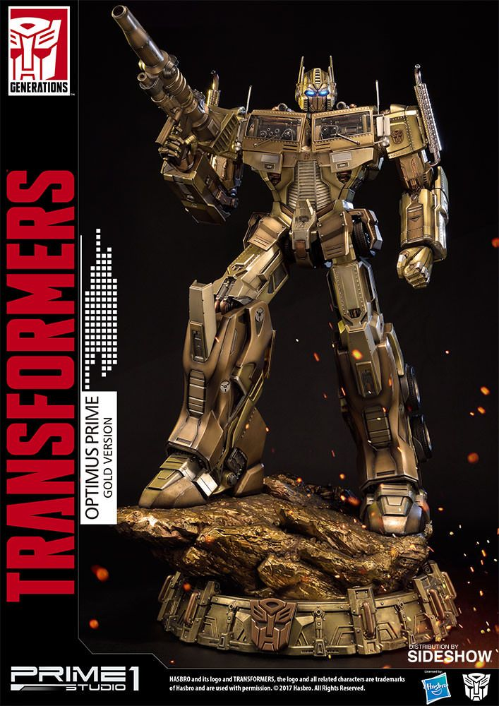 Optimus Prime Gold Version – Transformers Generation 1  Statue by Prime 1 Studio