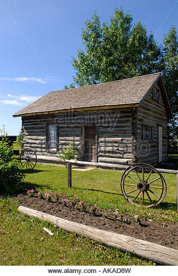 Historical Building at Historical Museum in Town of Hythe Alberta Canada - Stock Image