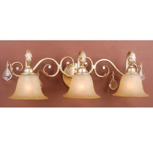 newcastle gilded white gold threelight bath fixture 170