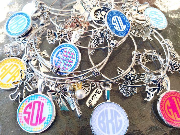 Monogram Bangle Charm Bracelet