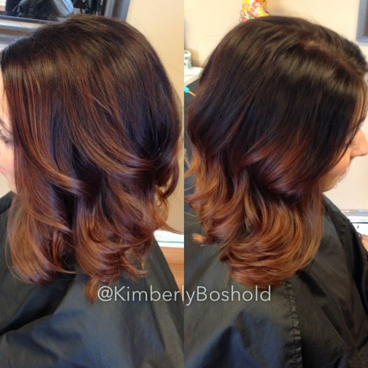 chestnut to copper ombre curly hair - Google Search