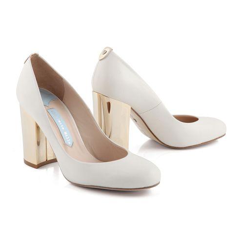 Zapatos de Novia Salón con tacón block modelo Beatrice de Charlotte Mills ➡️ #LosZapatosdetuBoda #Boda
