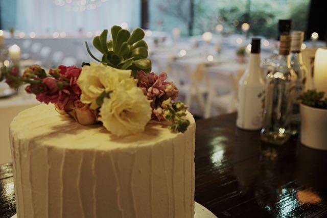 Palm Spring Wedding Styled Cake