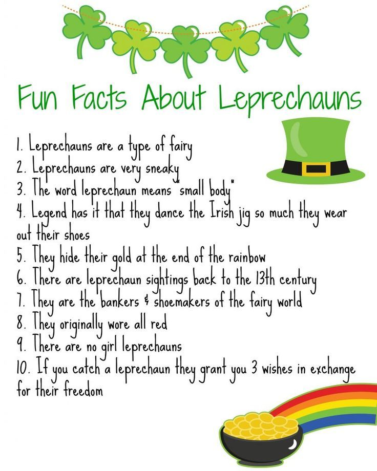 Fun Facts About Leprechauns (Free Printable) || The Chirping Moms