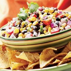 Black bean & corn salsa. This has been my go to for years! Great for girls nights or book club ;)