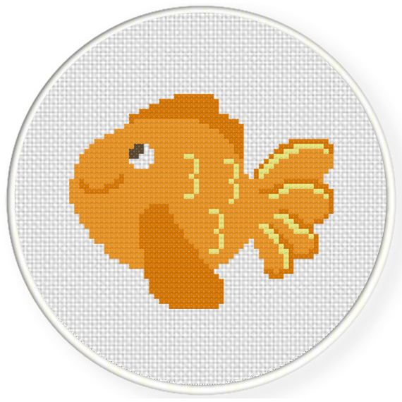 Charts Club Members Only: Cute Goldfish Cross Stitch Pattern