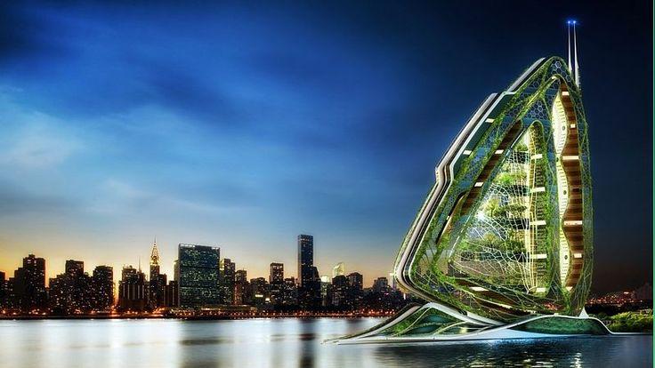 Koncept městské farmy má podobu obří vážky, která se usadila uprostřed New Yorku
