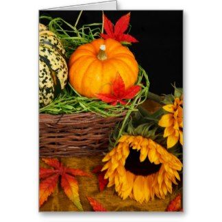 Fall Harvest Sunflowers Cards