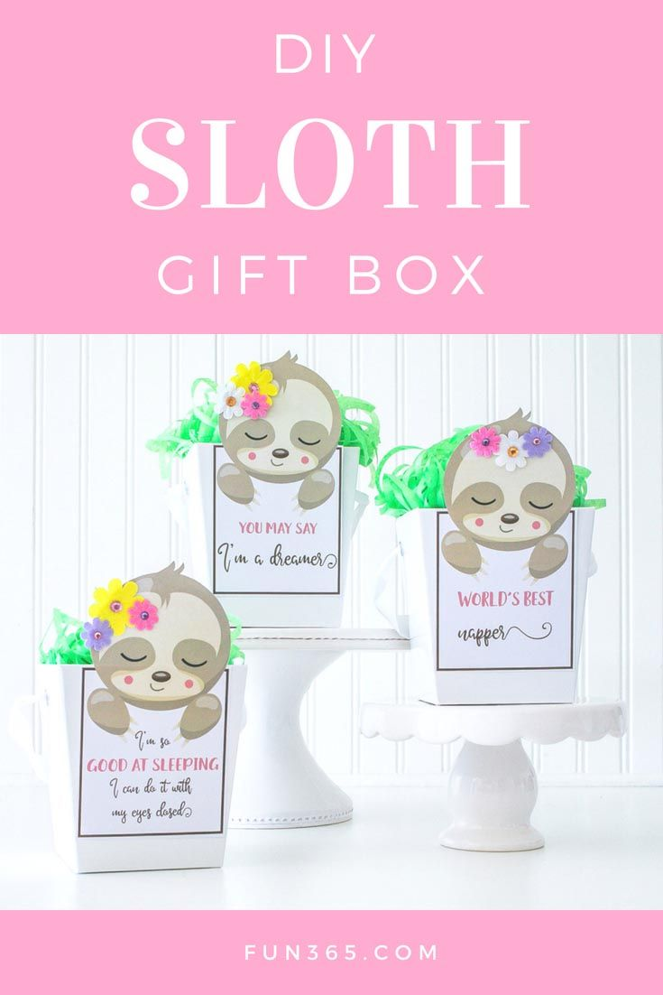 Who doesn\'t want a sloth themed gift box? End your party on a great ...