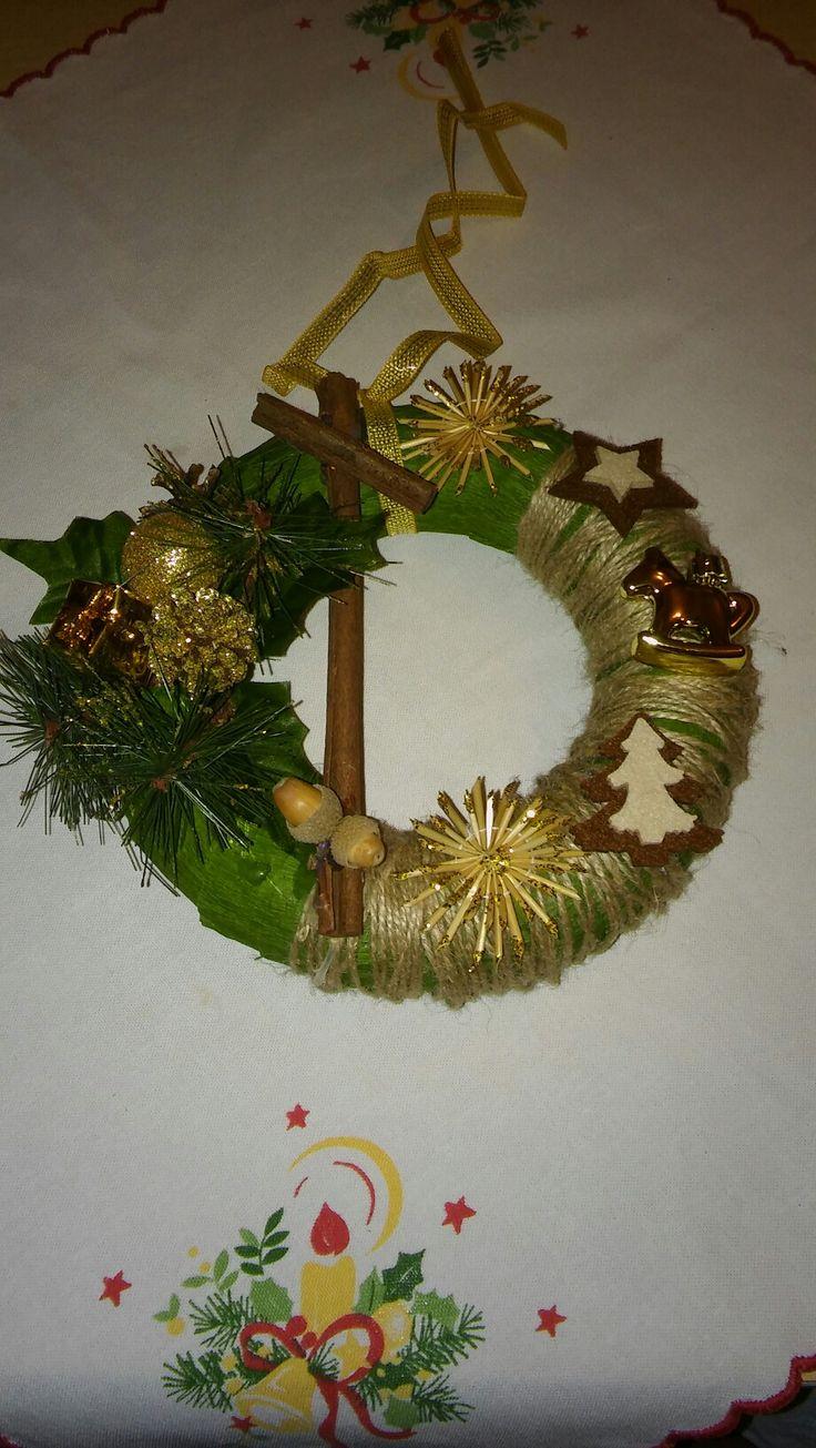 Karácsonyi ajtódisz