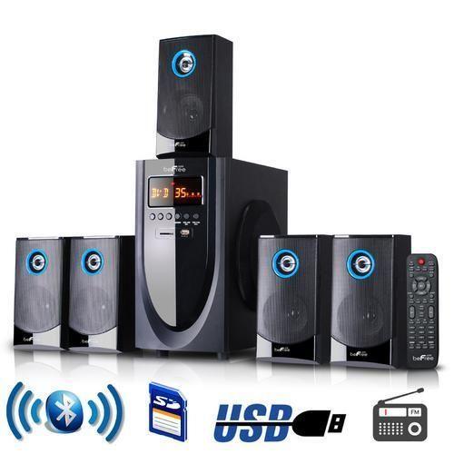 beFree Sound 5.1 Channel Surround Sound Bluetooth Speaker System D970-BFS-520-BL