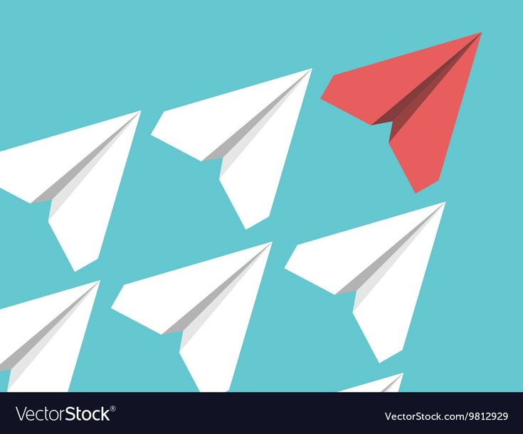 Papierflieger Führung Konzept Lizenzfreie Vektorgrafiken, Clip Arts, Illustrationen. – Business Vector Stock Photos