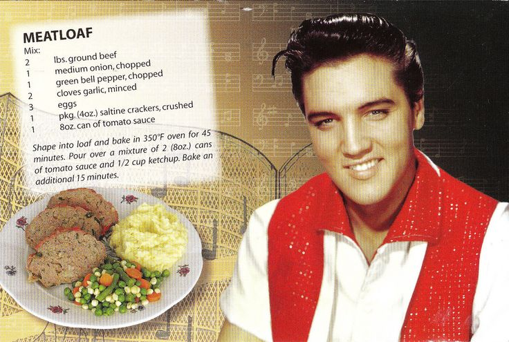 Elvis's Meatloaf Recipe Postcard | A new and fun addition to… | Flickr