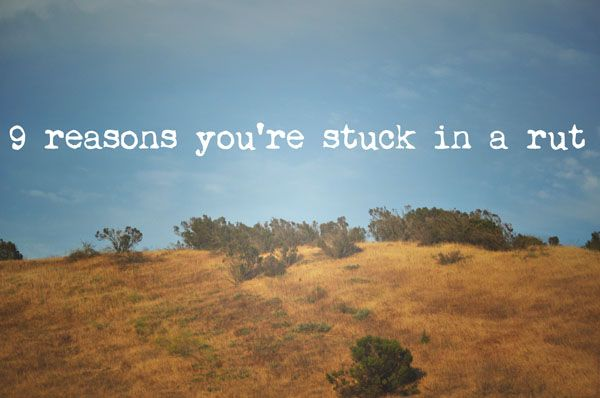 stuck in a rut with relationship