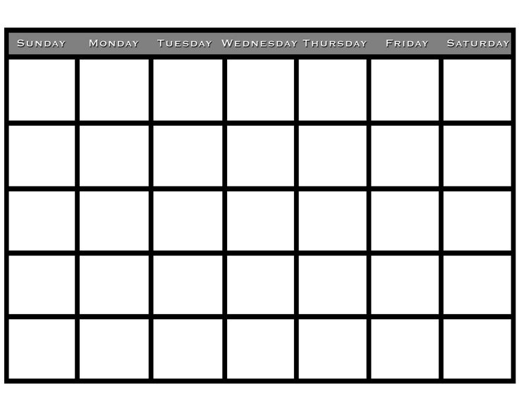 66 best Calendar Template Printable images on Pinterest Calendar - free printable blank calendar