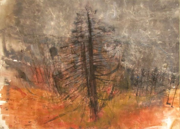 Joan Eardley | Fir Trees, Perthshire