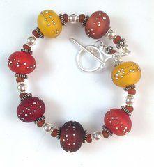 'Summer Warmth' glow beads bracelet