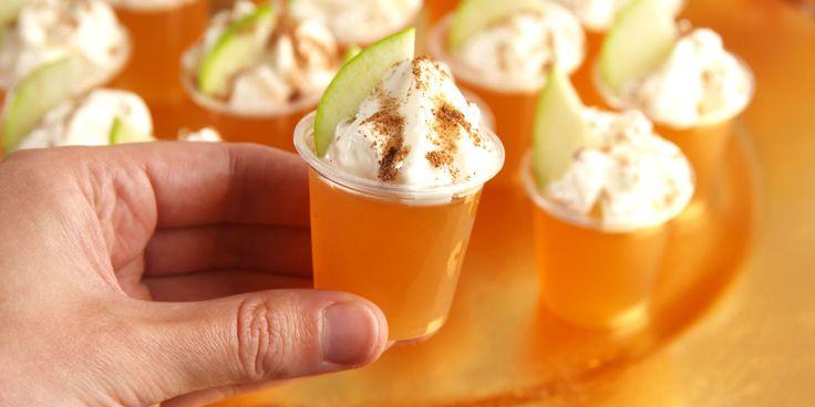 Take a shot of fall!  Cider and Fireball Jello shots