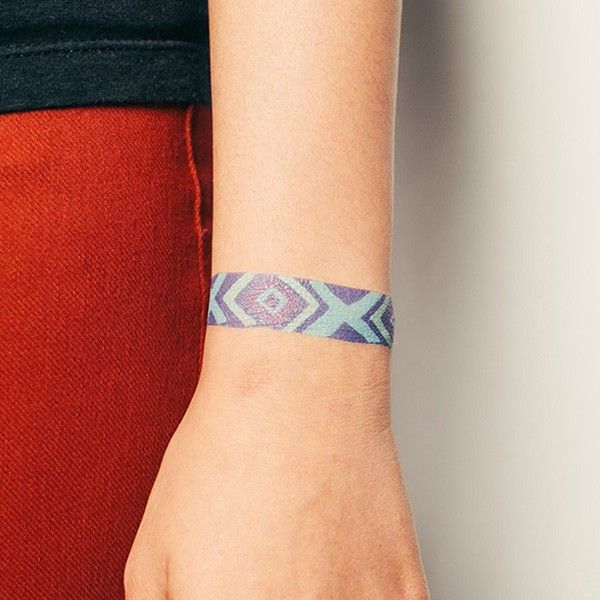 Top 15 Bracelet Tattoo Designs With Pictures: 41 Best Friendship Bracelet Tattoo Images On Pinterest