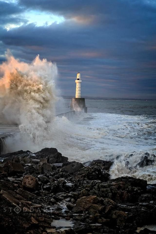 The power of the North Sea at Aberdeen