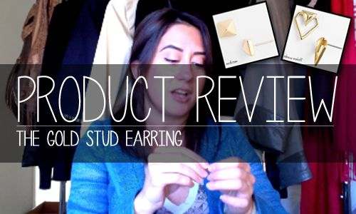 ae3fe4e4245df Product Review  On-line shopping review on all things gold stud earrings.  Rebecca