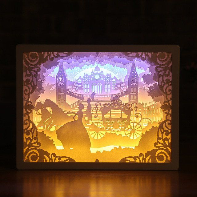 3d Paper Carving Night Lights Paper Carving Night Lights Paper Carving Paper Decorations 3d Paper