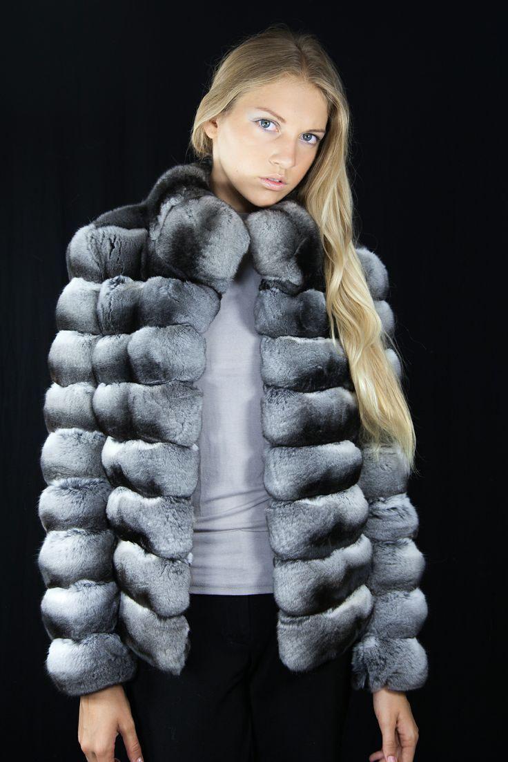 Chinchilla Fur Coat Women's Handmade Finest Genuine Chinchilla Skins | eBay