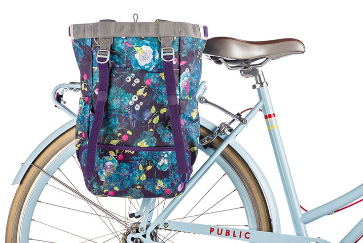 Digging the bold, funky colors of our new Radish Market Single Pannier...that also converts to a backpack! Rad!
