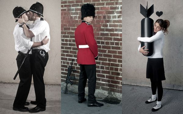 """from """"You Are Not Banksy"""" (recreations of famous Banksy pieces) by photographer Nick Stern"""