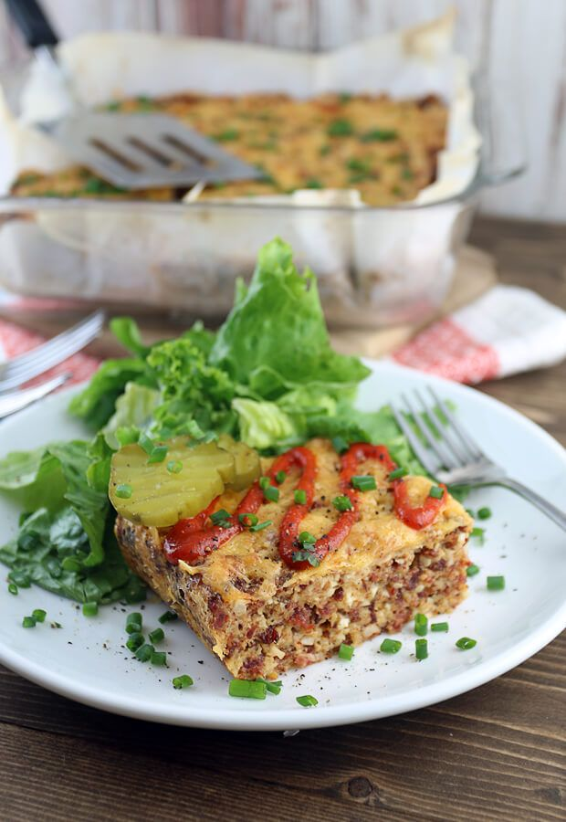 A delicious bacon cheeseburger casserole that is a perfect replacement for a salad in the colder months. Shared via http://www.ruled.me/