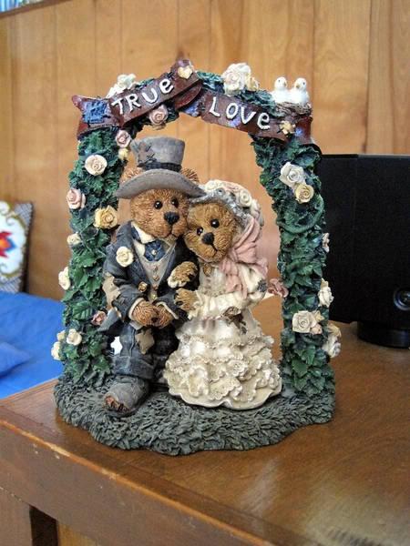 Boyds Bear Wedding Cake Topper