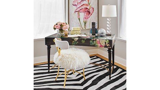 The Cynthia Rowley Fleur de Glee Writing desk at Walter E. Smithe Furniture & Design.