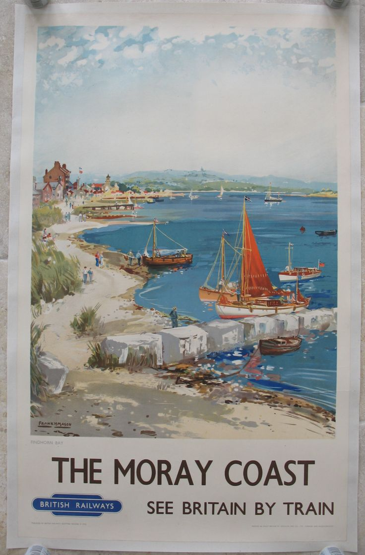 Original Railway Poster The Moray Coast, by Frank Mason. Available on originalrailwayposters.co.uk
