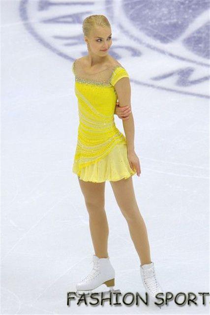 Custom Ice Figure Skating Dresses Beautiful New Brand Children Figure Skating  Dresses For Competition HB1730