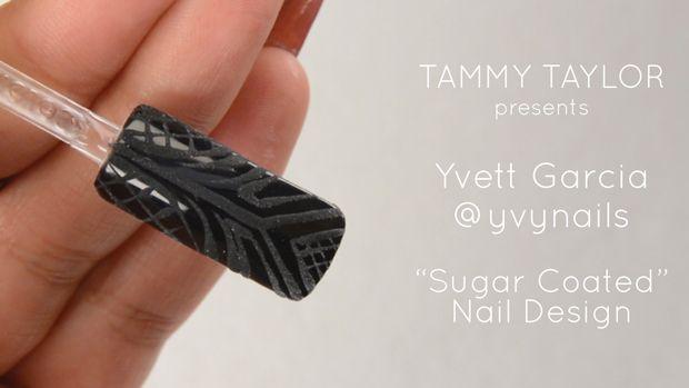 ❤ Tammy Taylor Presents Yvett Garcia Sugar Coated Nail Design @yvynails