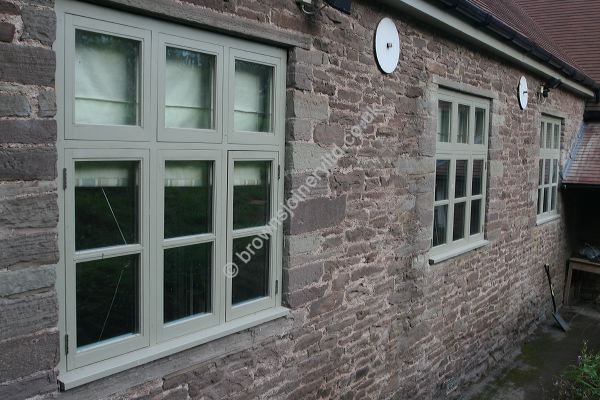 Farrow and Ball Painted Accoya Windows by www.brownsjoineryltd.co.uk