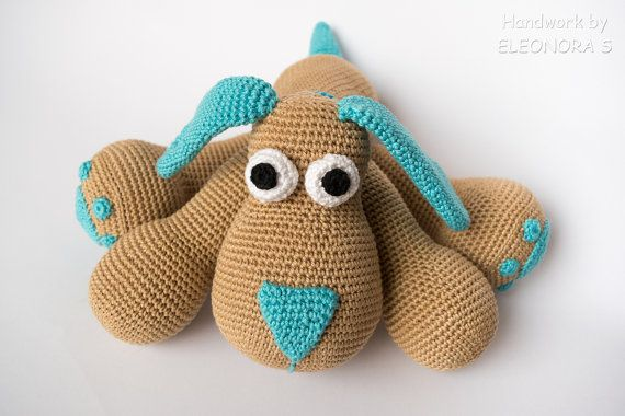 Crochet Stuffed Dog / Puppy/ Soft Dog toy / by ILoveAmigurumi