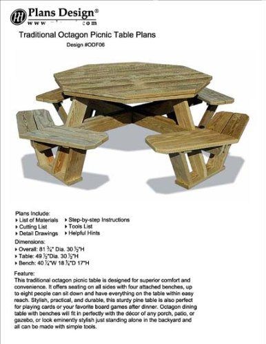 1000 Ideas About Octagon Picnic Table On Pinterest