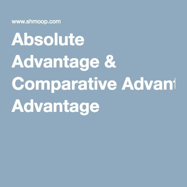 Absolute Advantage & Comparative Advantage