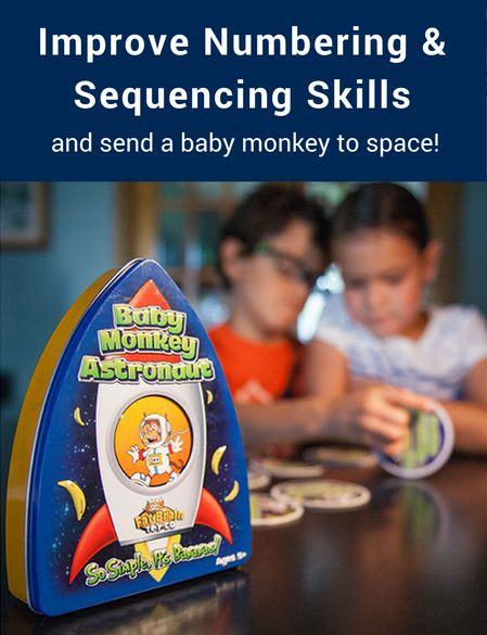 Perfect for math teachers and parents! Encourage numbering and sequencing skills with Baby Monkey Astronaut. The rocket is set for blast off and it's time to start the countdown. Ready for a memory and sequencing game with a little simian companion? Pick up your copy of Baby Monkey Astronaut today!