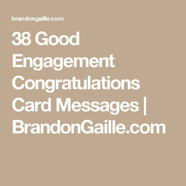 38 Good Engagement Congratulations Card Messages Brandongaille