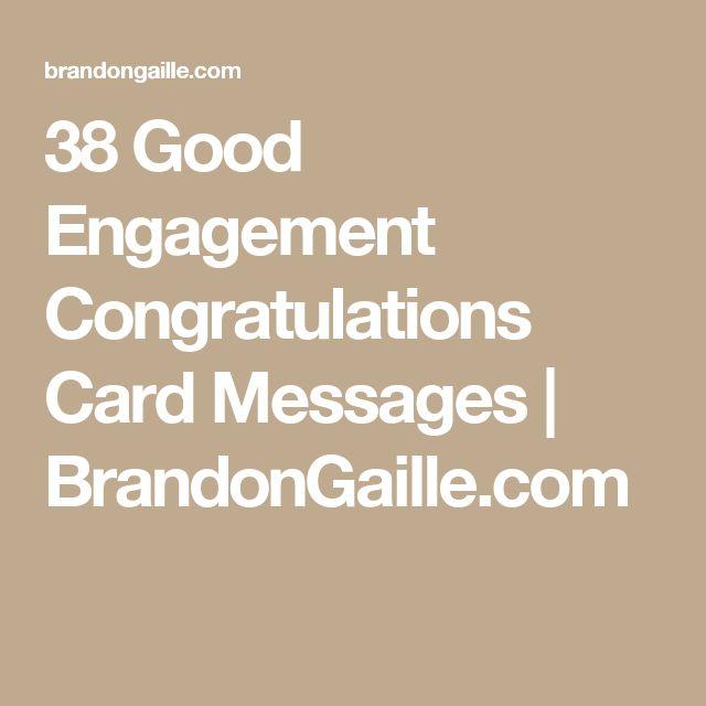 38 Good Engagement Congratulations Card Messages   BrandonGaille.com