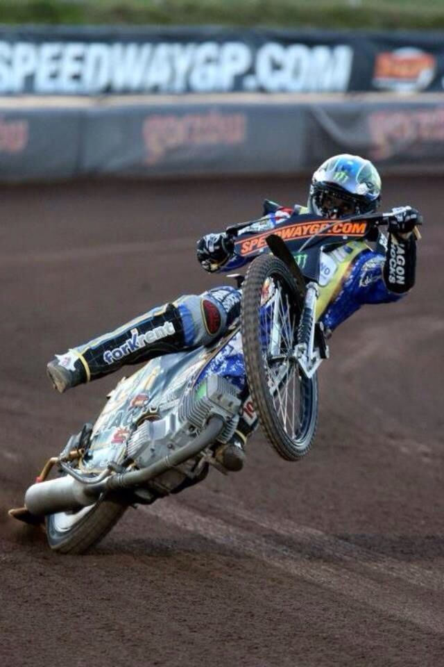 Kicking it out. Speedway GP!!! I was soooooo suprised he didnt fall!!