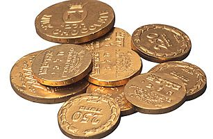 Gelt -   The gift of small Jewish coins first emerged as a Hanukkah tradition during the Middle Ages, when gelt (a Yiddish word for money) was given to teachers [The Gift of Gelt by Randy James; Time.com 2011]
