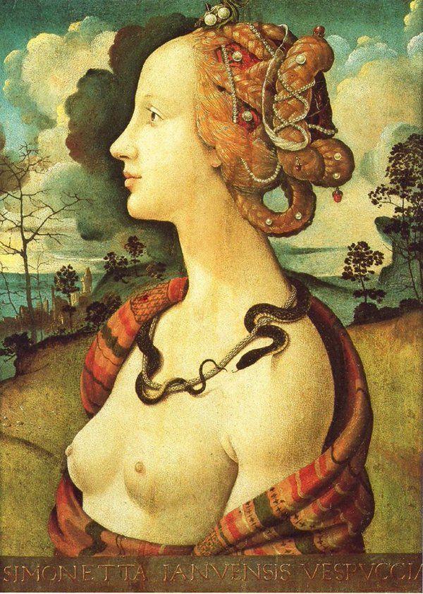 Piero di Cosimo - Ritratto di Simonetta Vespucci, 1480 c,