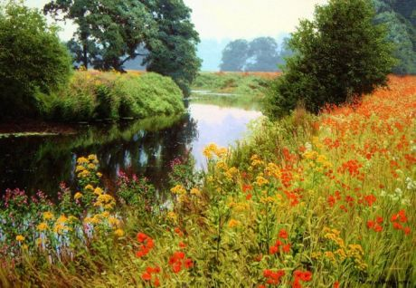 Пейзажи, полные солнца и лета, художника Michael James Smith     Перед нашими глазами предстает та самая Англия, которую воспевали английские писатели и поэты: изумрудные луга и холмы, леса и замки на тенистых склонах.    Пейзажи, полные солнца и лета, художника Mi…