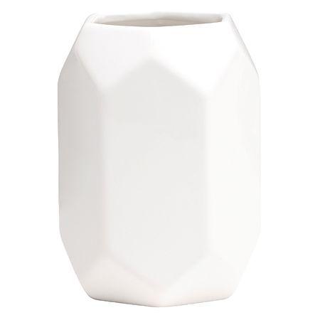 Living & Co Vase Hex White 9cm x 14cm